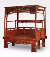 Chinese Canopy Bed, China /  Antico letto Cina