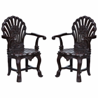 COUPLE OF COLONIAL ARMCHAIRS/  POLTRONE COLONIALI