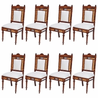 Rare Eight Indian Chairs Set