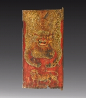 SOLD Tibetan Monastic Painted Door